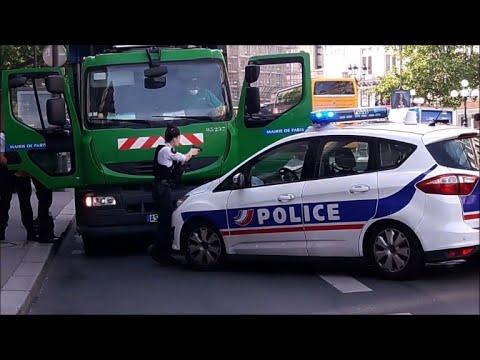 Paris: opération de police après le vol... d'un camion-poubelle