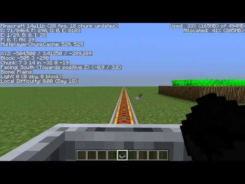 Minecraft Faster Minecarts in Snapshot 14w11a