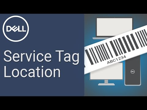 How to find Dell Service Tag (Official Dell Tech Support)