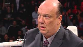 Brock Lesnar attacks Mr. McMahon during Paul Heyman