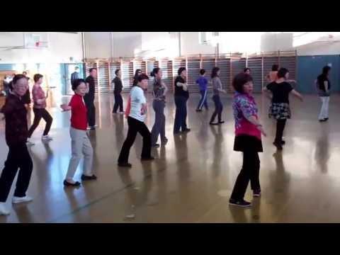 Class video 5/22/2013 San Francisco Chinese Line Dance 三藩市鳳凰飛健舞社