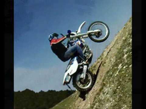 Yamaha TT 600 wheelie & hill climb ☺