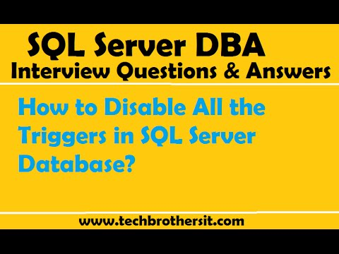 How to Disable All the Triggers in SQL Server Database - SQL Server Tutorial
