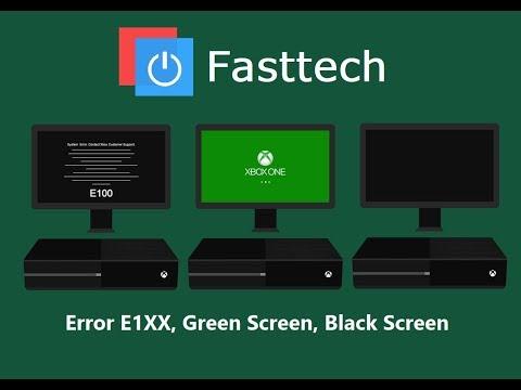 How to fix Xbox One E101,E102,E105,E200, black screen, green screen (Hard Drive Replacement)