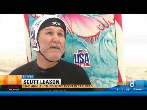 CBS 8 Highlights the 22nd Annual Blind Surf Event