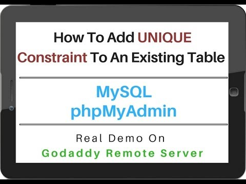 MySQL - phpMyAdmin 4.5.1 Add UNIQUE Constraint To Existing Column