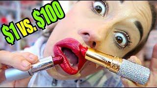 $1 LIPSTICK VS. $1000 LIPSTICK!