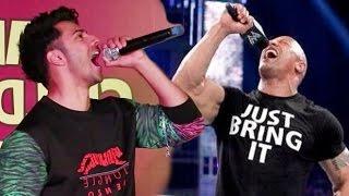 Varun Dhawan does WWE Wrestler THE ROCK