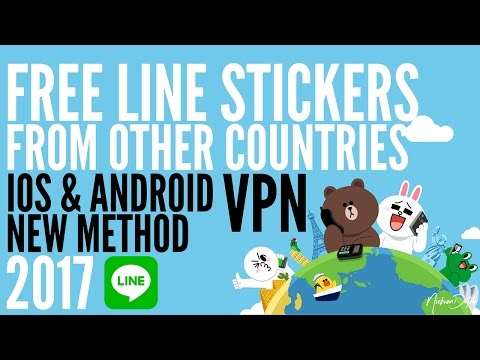 How to get LINE STICKERS for FREE? IOS ANDROID VPN Update FEB 2017