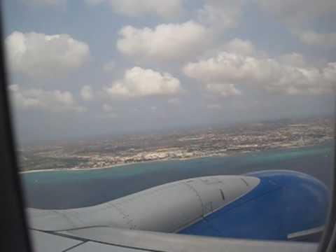 Landing in Aruba