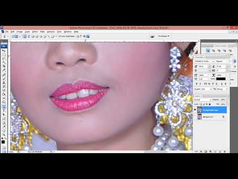 How to cut hair In Photoshop CS3 using Extract ជំនាញ
