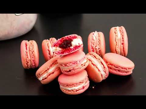 Strawberry French Macarons | Full Proof Recipe - How to make French Macarons