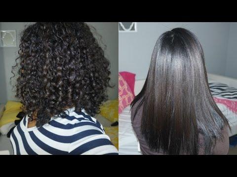 How I Straighten My Thick Curly Hair ⎮ BeautybyMaria