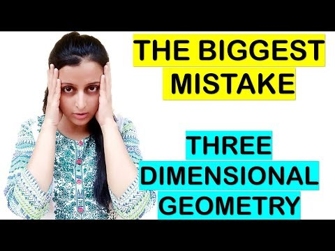 THREE DIMENSIONAL GEOMETRY BIGGEST MISTAKE || 6 MARKS QUESTION - 3-D GEOMETRY
