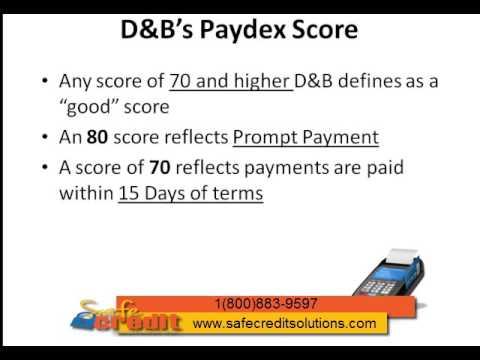Dun and Bradstreet Paydex Credit Score Business Credit