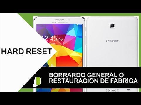Samsung Galaxy TAB 4 ( HARD RESET ) Restauración De Fabrica