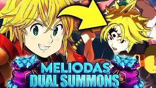 LEGENDARY RARE?! NEW BROKEN MELIODAS DUAL SUMMONS! | Seven Deadly Sins: Grand Cross