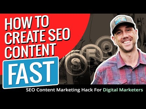 SEO For Content Marketers - How To Create Search Optimized Content Fast That Ranks In Google Fast!