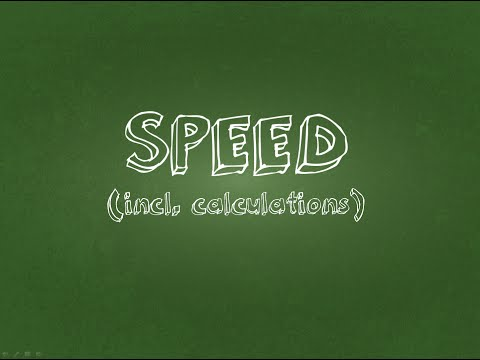 Physics Tutorial Speed and Calculation Exercises