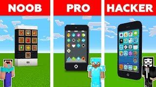 Minecraft NOOB vs PRO vs HACKER: iPhone Challenge in Minecraft / New animation
