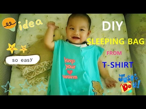 super easy DIY baby summer sleeping bag/sack from T-shirt