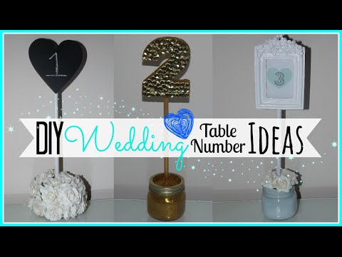DIY Wedding Table Number Ideas - Affordable! - Wedding Series