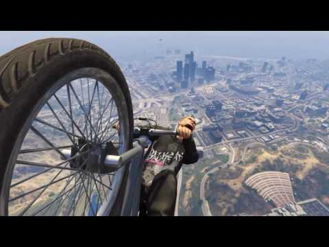 NEW! HOW TO DANCE While flying on your BMX, GTA5 online.