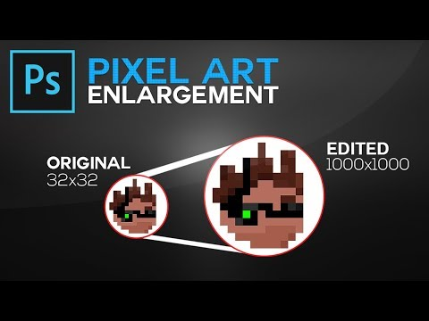 Photoshop CC/CS6: How To Make Pixel Art Bigger