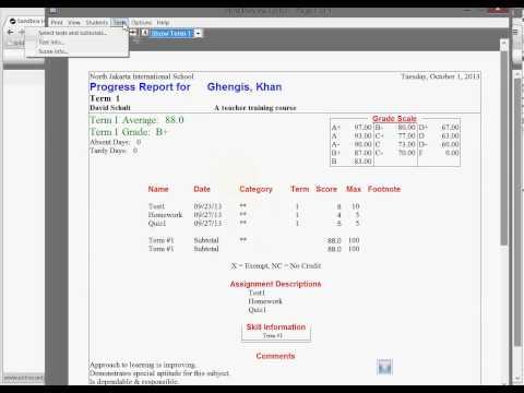 Create HS Progress Reports