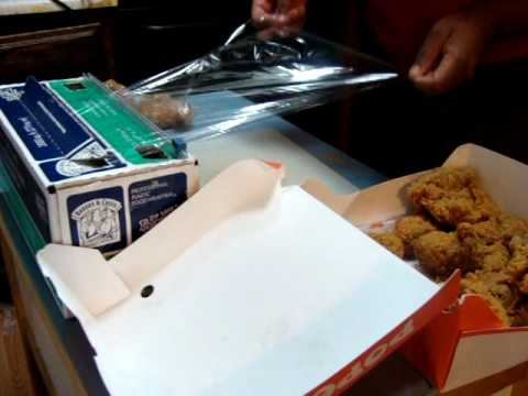 59 Individually wrapping Popeyes chicken for quick lunch or dinner, easy to freeze thighs & legs