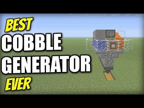 Minecraft Xbox - COBBLE GENERATOR [ Best Ever / AFK / Skyblock ] Tutorial - PE / PS4 / PS3 / Switch