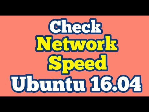 How to see Network Speed on Unity Panel Ubuntu 16.04 || Check Internet Speed