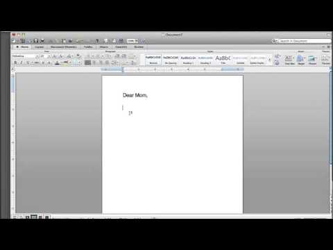 How to Go to the Next Line When Typing a Letter : Basic Computer Skills
