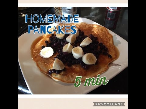 How to Make Pancakes in 5 Minutes! For Kids!