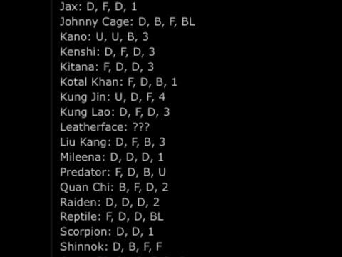 Mortal Kombat XL Stage Fatalities Codes/Button inputs