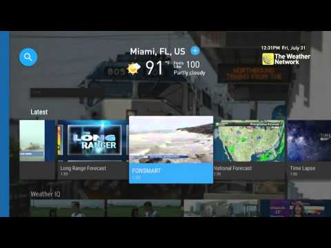 How to access The Weather Network on Android TV