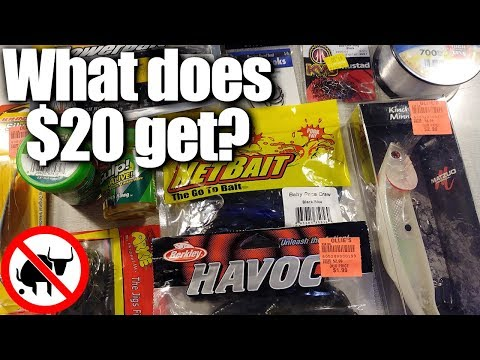 How Much Fishing Tackle Can I Get For $20?  Budget Fishing Gear!