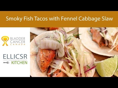 Smoky Fish Tacos with Fennel Cabbage Slaw