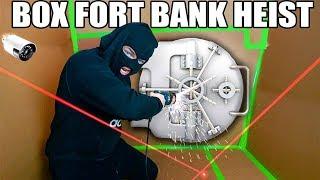 BOX FORT BANK HEIST!! 📦💰 Vault Hacking, Lasers & More!