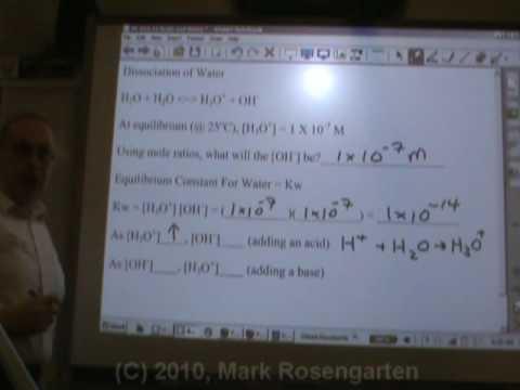 Chemistry Tutorial 11.3b:  Kw