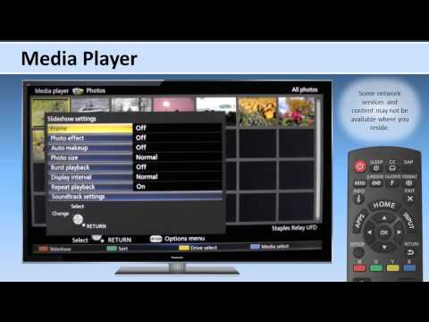 Panasonic 2013 Viera How to Use DLNA and Media Player