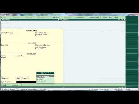 GST entry in SALES INVOICE  IN TALLY ERP9  NEW VERSION