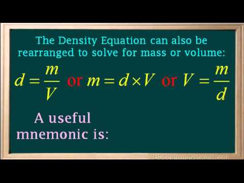 BCLN - Introducing the density formula - Chemistry