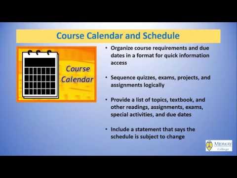 Creating an Effective Course Syllabus