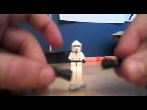 how to build a lego mini gun
