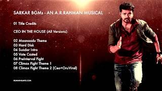 Sarkar BGMs - CEO IN THE HOUSE BGM (All Versions) - An A.R.Rahman Musical
