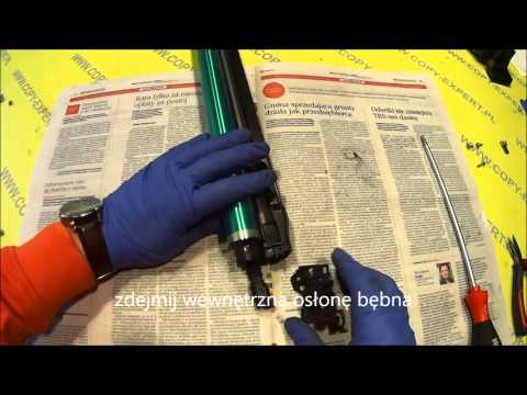 MINOLTA Bizhub C200 C203 C253 C353 How to replace drum OPC, cleaning Blade and chip TOURTIAL