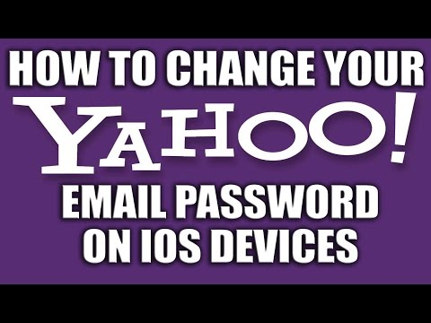 How to Change Your Yahoo Email Password on iPhone or iOS Devices - Yahoo Email Services