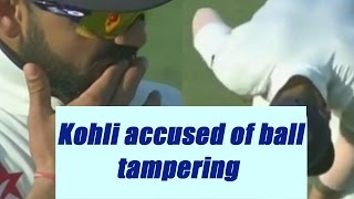 Virat Kohli accused of ball tampering during Vizag test | Oneindia News