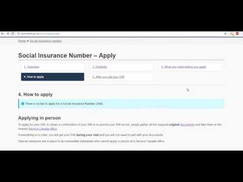 New comers to canada -Your initial days-  Apply  for SIN (Social Insurance number) in Canada